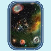 Galaxy Space Window 1 Peel and Stick Wall Mural