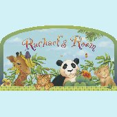 Jungle Room Sign Peel and Stick Wall Mural