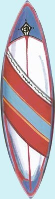 Malibu Surfboard Peel and Stick Wall Mural - Kids Wall Decor Store