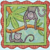 Monkey Peel and Stick Wall Mural