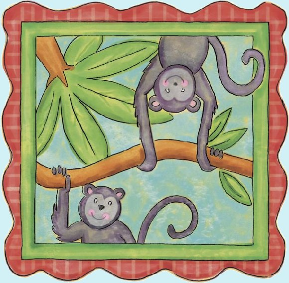 Monkey Peel and Stick Wall Mural - Wall Sticker Outlet