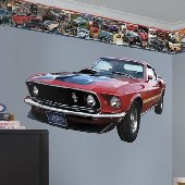 1969 Ford Mustang Mach I Peel and Stick Wall Mural
