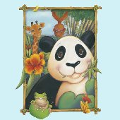Panda Window Peel and Stick Wall Mural