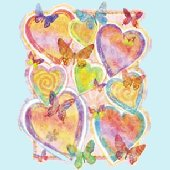 Pastel Hearts Peel and Stick Wall Mural