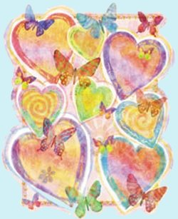 Pastel Hearts Peel and Stick Wall Mural - Kids Wall Decor Store