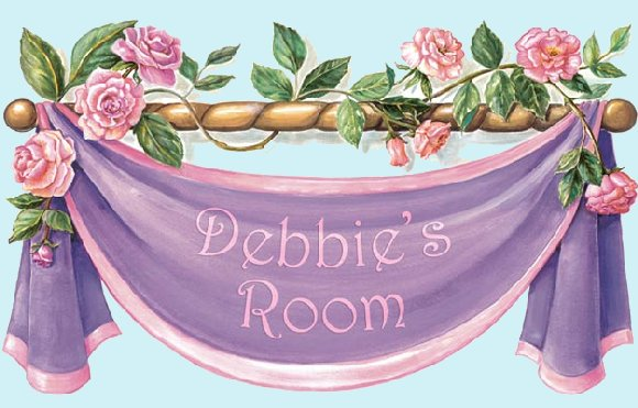 Rose Banner Peel and Stick Wall Mural - Kids Wall Decor Store