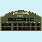 Custom wall murals decals personalized wall stickers for Baseball scoreboard wall mural