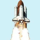 Space Shuttle Peel and Stick Wall Mural