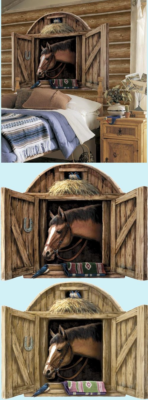 Horse Stable Door Peel and Stick Mural in 2 Colors - Wall Sticker Outlet