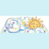 Sun and Moon Topper Peel and Stick Wall Mural