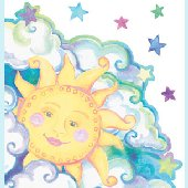 Sun Peel and Stick Wall Mural