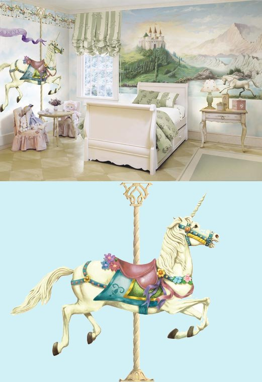 Unicorn Peel and Stick Mural - Wall Sticker Outlet