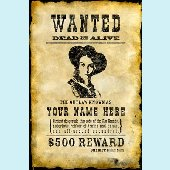 Wanted Poster - Girls Peel and Stick Wall Mural
