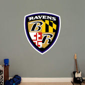 Fathead Baltimore Ravens Sheild Logo Decal