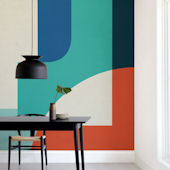 Minted Red Sun Repositionable Wall Mural