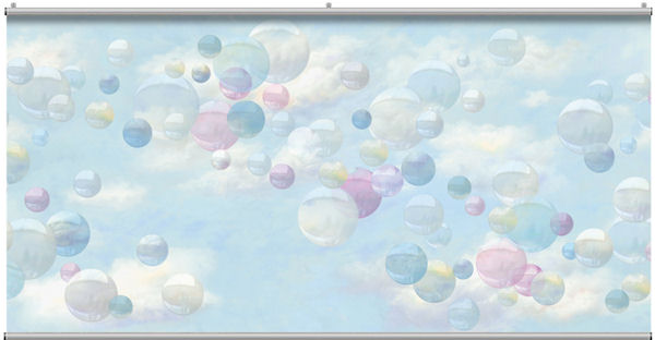 Retro Bubbles Minute Mural - Wall Sticker Outlet