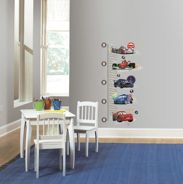 Cars Metric Growth Chart  - Wall Sticker Outlet