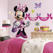 Minnie Bowtique Giant Wall Decals with Alphabet