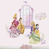 Disney Princess Collage Wall Decals with Alphabet
