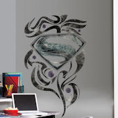 Superman Man Of Steel Stylized Logo Wall Decal