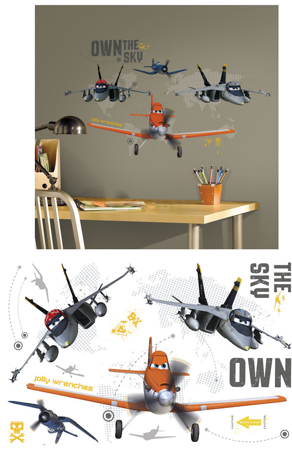 Disney planes own the sky giant wall decals for Disney planes wall mural