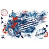 Superman Man Of Steel Distressed Flag Decal