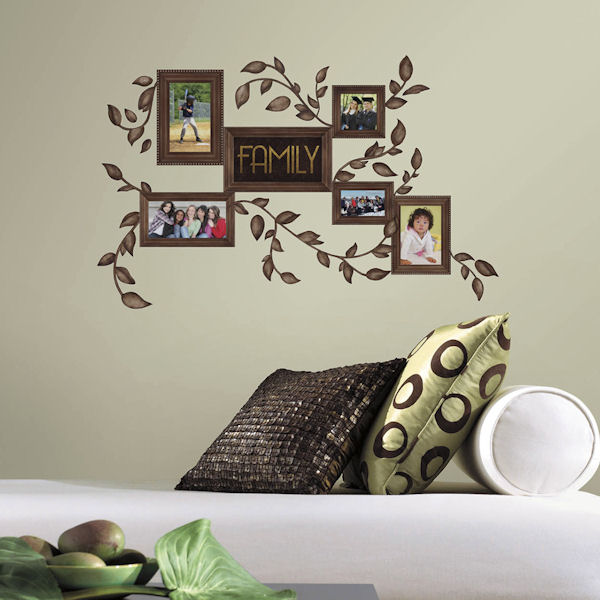 Family Frames Peel and Stick Wall Decals - Wall Sticker Outlet
