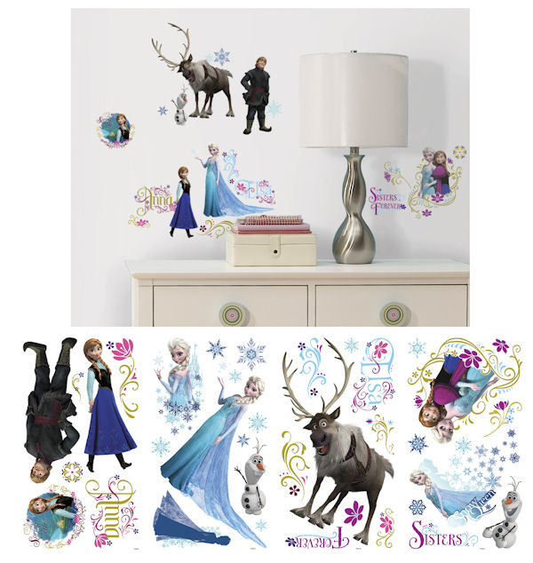 Disney Frozen Peel and Stick Wall Decals - Wall Sticker Outlet