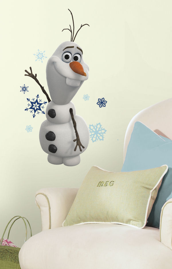 Disney Frozen Olaf the Snow Man Giant Wall Decal - Wall Sticker Outlet