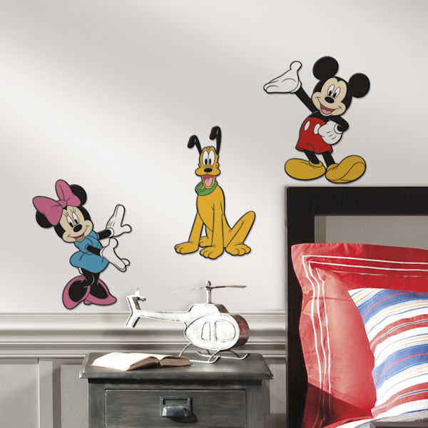 Mickey and Friends Set of Three Foam Wall Decals - Wall Sticker Outlet