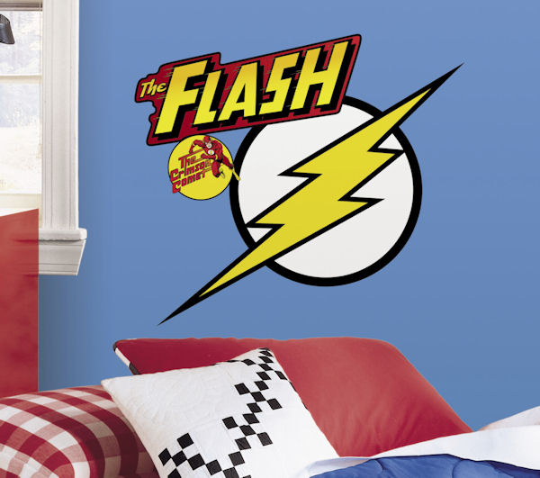 Classic Flash Logo Giant Wall Decal - Wall Sticker Outlet