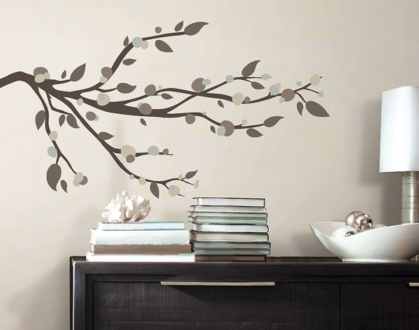 Mod Tree Branch Peel and Stick Wall Decal - Wall Sticker Outlet