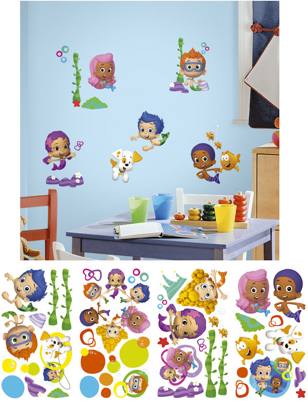 Bubble Guppies Peel and Stick Wall Decals - Wall Sticker Outlet
