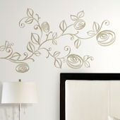 Stylized Roses Peel and Stick Wall Decals