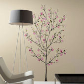 Pink Blossom Tree Giant Wall Decal
