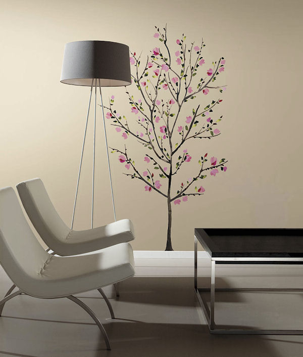 Pink Blossom Tree Giant Wall Decal - Wall Sticker Outlet