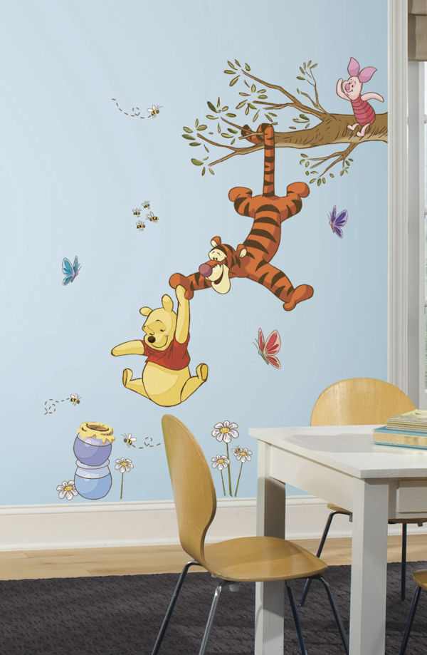 Winnie the Pooh Swinging for Honey Wall Decals - Wall Sticker Outlet