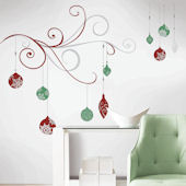 Holiday Scroll Glitter Giant Wall Decals