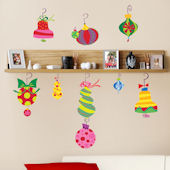 Holiday Ornaments Giant Wall Decals