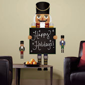 Nutcracker Chalkboard Giant Peel and Stick Decals