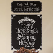 Christmas Countdown Chalkboard Giant Decal