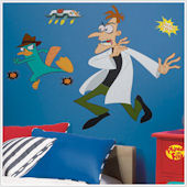 Agent P and Dr. Doofenshmirtz Giant Wall Decals