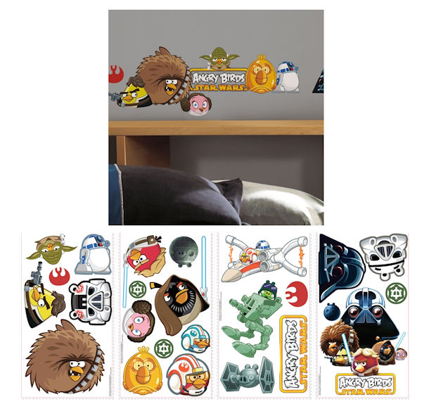 Angry birds star wars wall decals for Angry bird wall mural