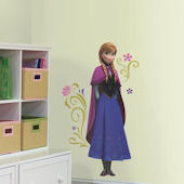 Disney Frozen Anna With Cape Giant Wall Decal
