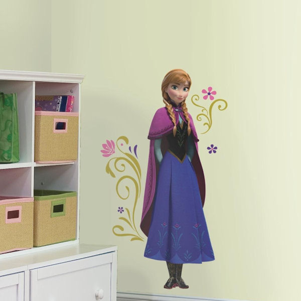 Disney Frozen Anna With Cape Giant Wall Decal - Wall Sticker Outlet