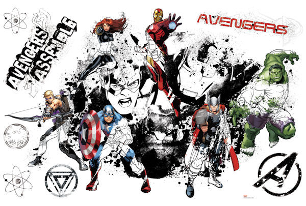 Avengers Assemble Graphic Peel Stick Wall Decal - Wall Sticker Outlet
