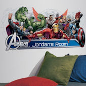 Avengers Assemble Headboard Giant Wall Decal