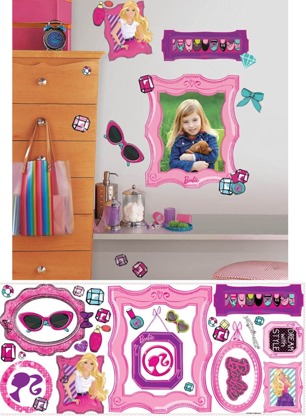 Barbie Fabulous Frames Giant Wall Decals SALE - Wall Sticker Outlet