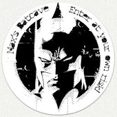 Batman Black and White Custom Wall Decal