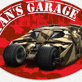 Batman Garage Name Wall Decal